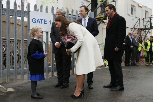 Como siempre, se mostró muy atenta con los niños.