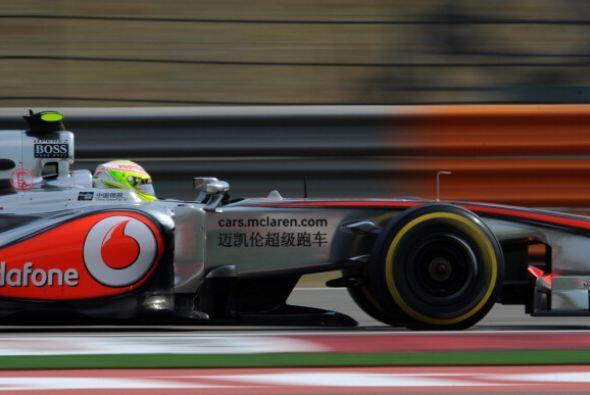 Sergio Pérez no consiguió colarse a la tercera tanda de clasificación.
