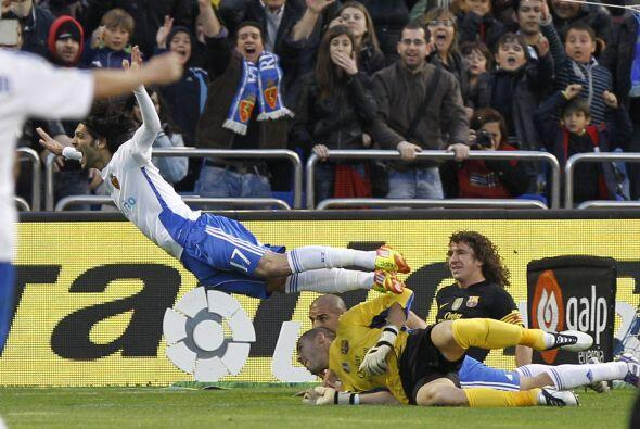El local tuvo la chance de ponerse en ventaja, luego de un claro penalty...