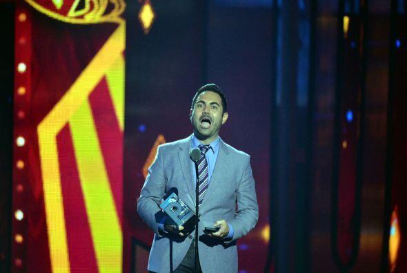 El premio fue para Enrique Santos, quien agradeció al público que escuch...