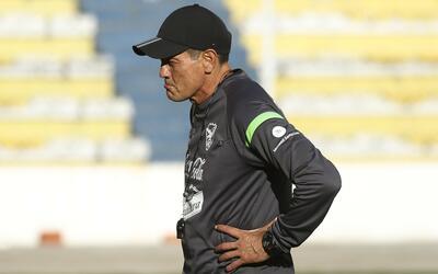El técnico de la selección de Bolivia, Mauricio Soria.