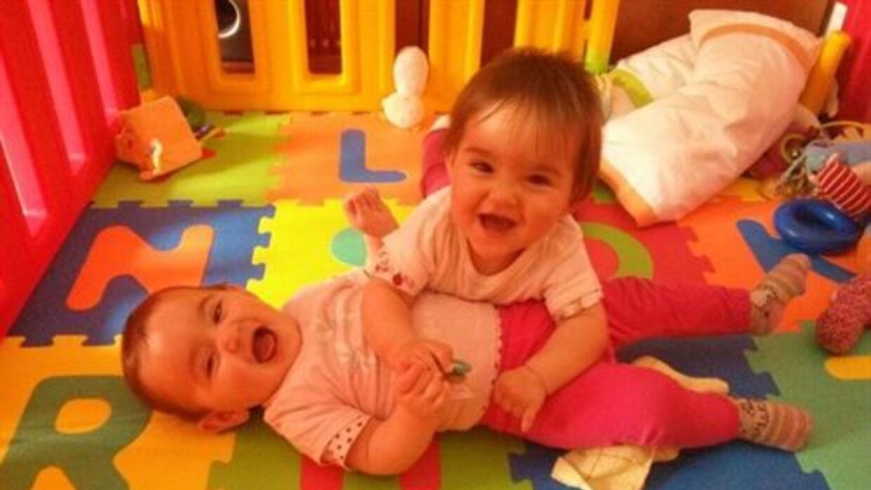 Laura y Marta fueron fecundadas in vitro con vibraciones musicales. Foto...