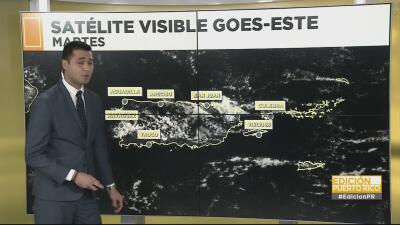 Se pronostican fuertes aguaceros en el centro de Puerto Rico este miércoles