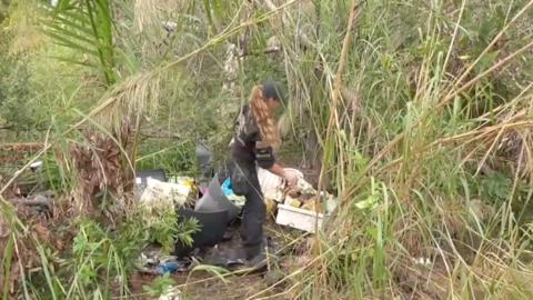 Rachel Taylor, investigadora de ARM, dijo que los restos se encontraban...