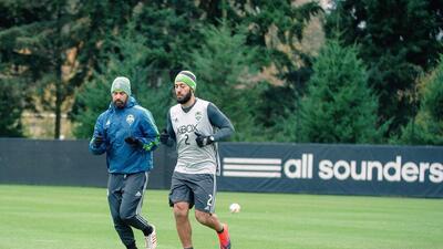 Clint Dempsey fue visto el miércoles en el entrenamiento de Seattle.