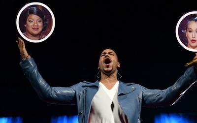 Romeo Santos pidió votar por Victoria 'La Mala' (derecha) y los f...