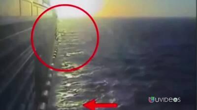 Imágenes del momento en que joven mexicano se lanzó de un crucero