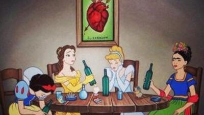 """""""Paloma negra"""" muestra a Blanca Nieves, Cenicienta, Bella y Frida Kahlo..."""