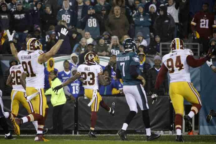 Los Washington Redskins vencieron a los Philadelphia Eagles para coronar...