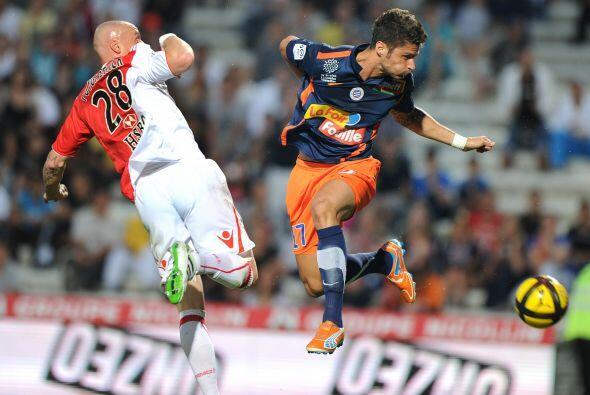 Parece que Giroud, del Mónaco, y Pouygrenier, del Montpellier, ensayaron...