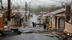 Guayama fue una de las zonas afectadas por María en la mañana de este mi...