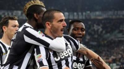 Bonucci hizo el tercer y definitivo gol para que la 'Vecchia Signora' sa...