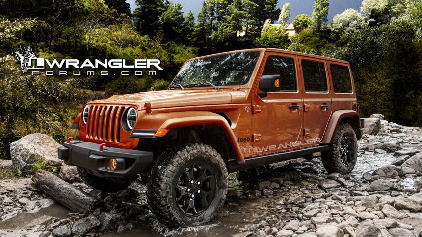¿Es esta la nueva Jeep Wrangler 2018? wrangler-2018-front-mango-tagged-1...
