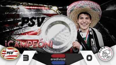 ¡'Chucky' Lozano es campeón de la Eredivisie con el PSV en su primera temporada!