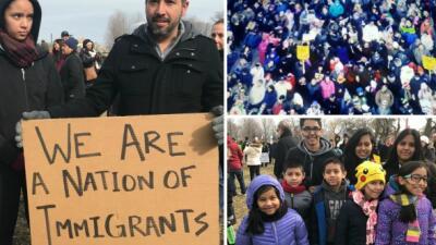 """En fotos: la protesta de """"Un día sin Inmigrantes"""", en Chicago"""