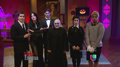 La familia de los locos Addams llegó a La Noche Encima