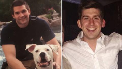 Brian McDaniel, un bombero de 26 años, y Trevor Cadigan, un perio...