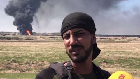 "Falah Aziz, policía iraquí, se autodenomina el ""verdu..."