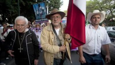 La Marcha por la Paz con Dignidad y Justicia que encabeza el poeta y esc...