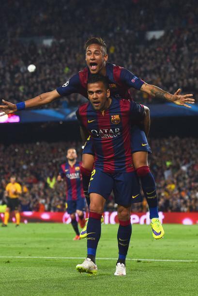 Dani Alves mandó un centro magnífico para que Neymar consiguiera su segu...