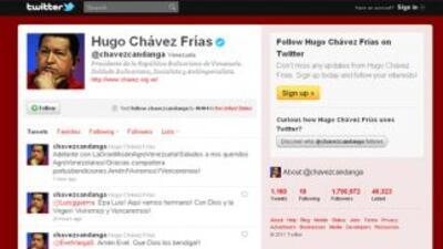 El presidente venezolano Hugo Chávez anunció por medio de su cuenta de T...