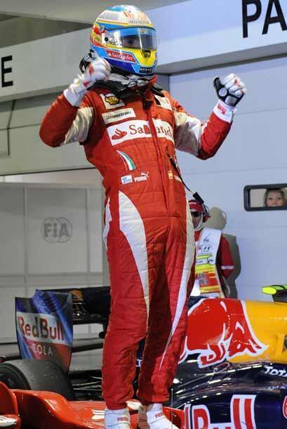 Esta fue la segunda victoria consecutiva para Alonso, después de su triu...
