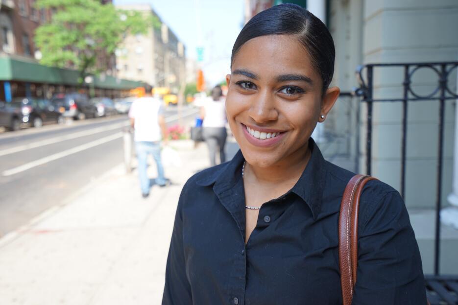 """Amanda Pérez: """"Nada, no siento que sea un problema en NYC""""."""