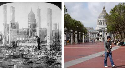 Escenas del terremoto, a 110 años del evento que cimbró a SF en 1906