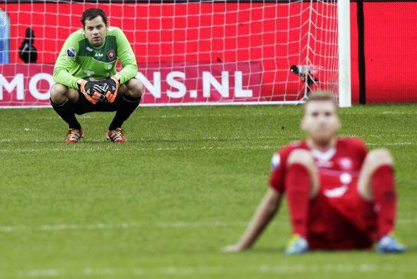 Una imagen vale más que mil palabras... El Twente perdió ante el Feyenoord.