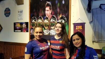 La fiesta de los fanáticos del Barcelona en Estados Unidos para la Champions