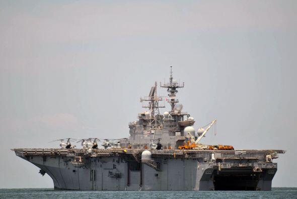 Los integrantes de esta misión llegaron a bordo del buque estadounidense...