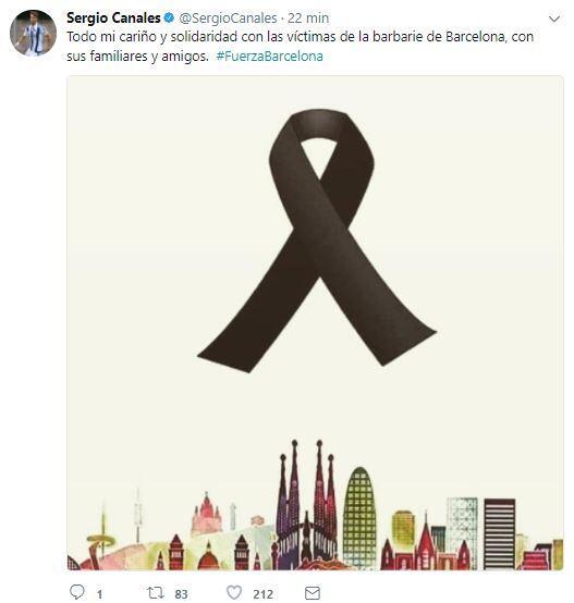 El mundo del deporte se solidariza con las víctimas de Barcelona BCN24.JPG