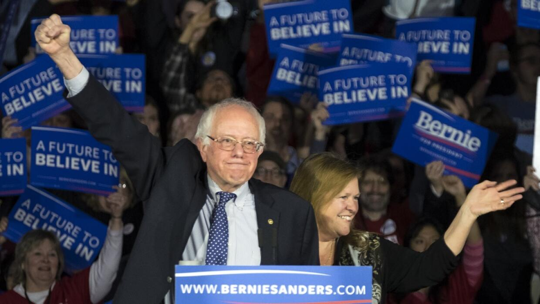 Sanders habló de un empate virtual.