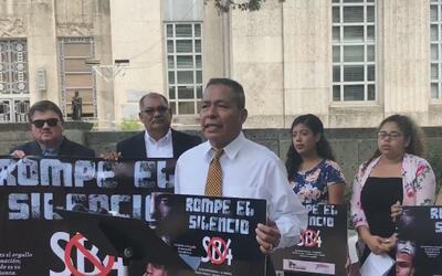 Grupo Pastores en Acción protesta en contra de la ley SB4 y sus efectos