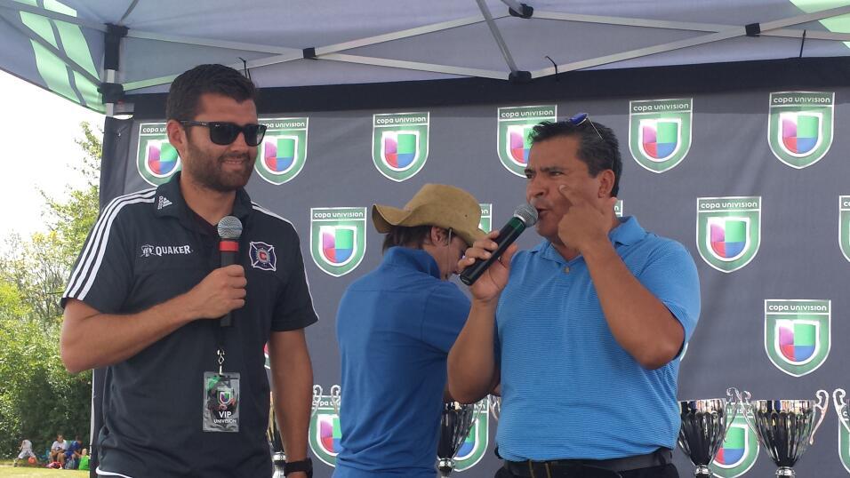 Gonzalo Segares, ex jugador del Chicago Fire estuvo presente en Copa Uni...