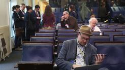 Thrush en la sala de prensa de la Casa Blanca en una foto de febrero de...