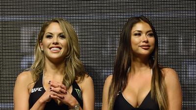 Arianny Celeste y Brittney Palmer, las bellas mujeres que engalanan el octágono de la UFC