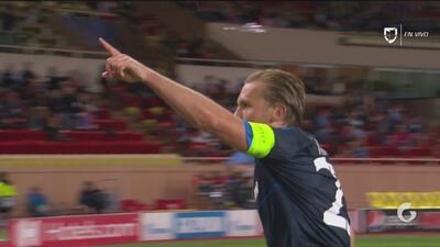 Ruud Vormer, con una linda maniobra individual, anota el 4-0 para el Brujas