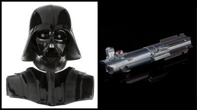 Lo que cuesta ser Jedi o caer en el lado oscuro de 'La Fuerza', según una subasta de objetos de películas de Hollywood