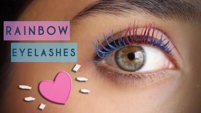 Rainbow eyelashes: todos los colores caben en tus pestañas – #NathLoUsa