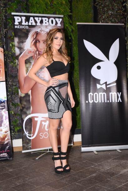 La joven apareció en la portada de Playboy del mes de febrero.