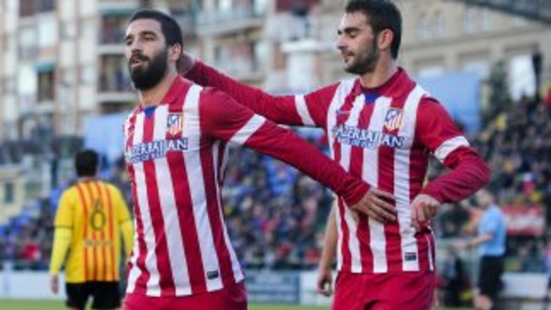 Arda Turan celebra su gol contra Sant Andreu.