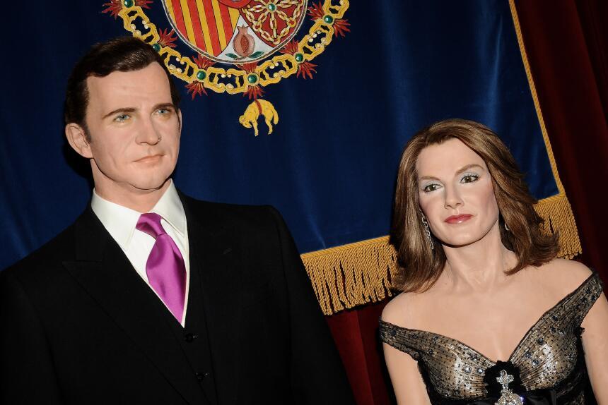 Los Reyes de España en cera