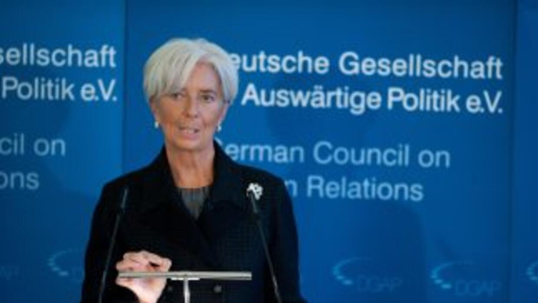 "Lagarde dijo temer que Italia o España sufran una ""crisis de solvencia""..."