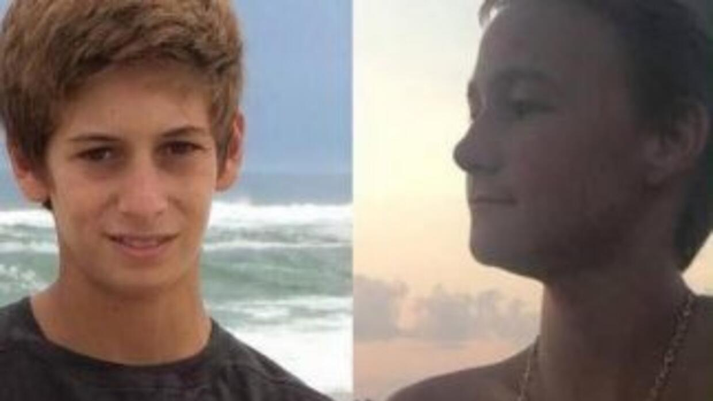 Los dos jóvenes desaparecidos en las costas de Florida.