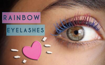 Rainbow Eyelashes – #NathLoUsa