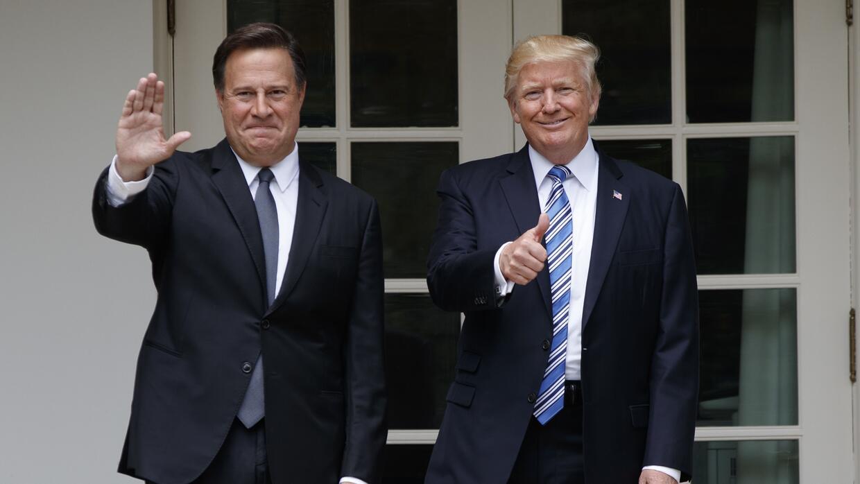 Donald Trump recibió al presidente Juan Carlos Varela de Panamá en la Ca...