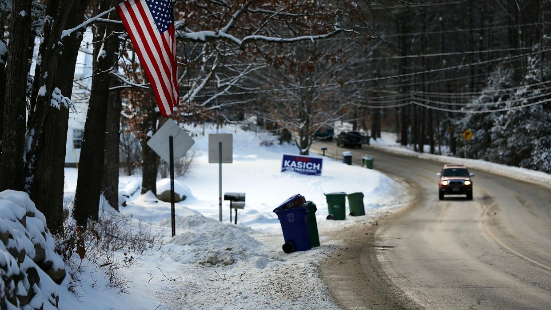 New Hampshire primarias nieve