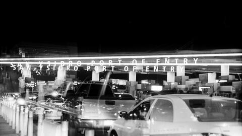 Una foto de la agitada garita fronteriza de San Ysidro, la más tr...