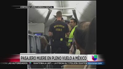 La muerte de un pasajero forzó el aterrizaje de un vuelo de Aeroméxico e...